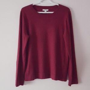 🆕️J.Crew Red Crew Neck Sweater